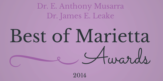 Best of Marietta 2014 award for Dr. Musarra and Dr. Leake